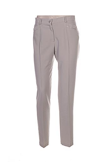 Pantalon chic beige CHRISTINE LAURE pour femme