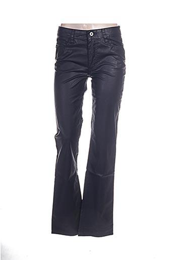 lauren vidal pantalons femme de couleur bleu