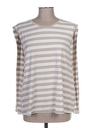 T-shirt manches courtes beige ANNA SERAVALLI pour femme