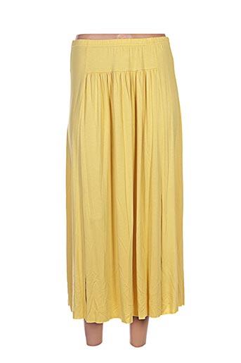 maloka jupes femme de couleur jaune