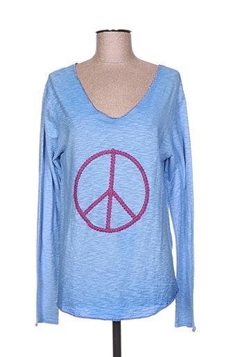 free for humanity t-shirts femme de couleur bleu