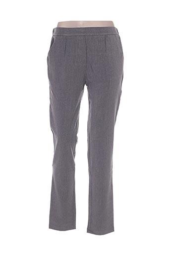 majolica pantalons femme de couleur gris