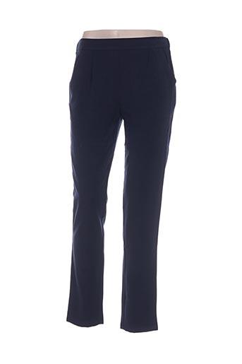 majolica pantalons femme de couleur bleu