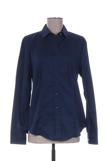 kocca chemises femme de couleur bleu