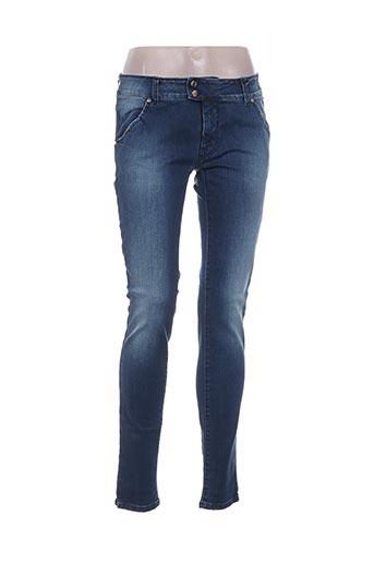 met pantalons femme de couleur bleu