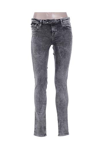 ddp pantalons femme de couleur gris