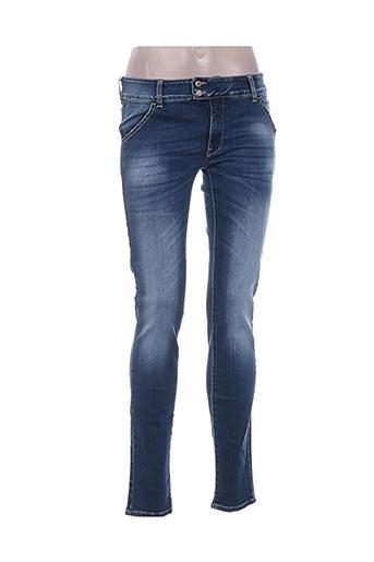 Jeans skinny bleu MET pour femme