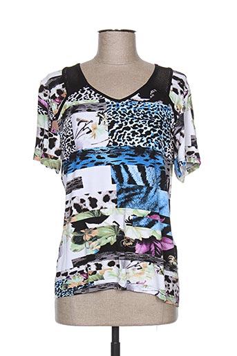 gd t-shirts femme de couleur bleu