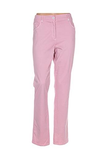 pause cafe pantalons femme de couleur rose