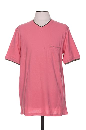 casual spirit t-shirts homme de couleur rose