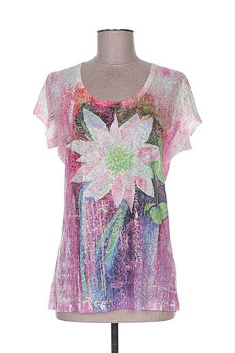 ky creation t-shirts femme de couleur rose