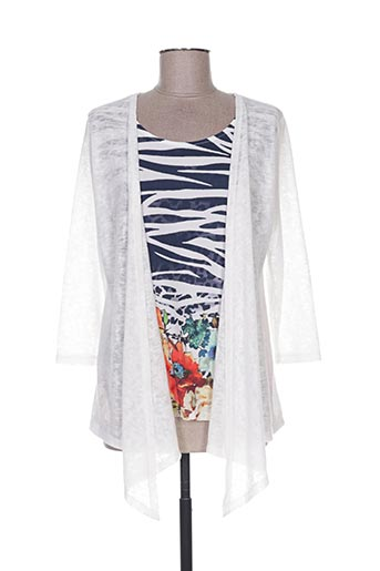Pull col rond blanc ALEXE pour femme