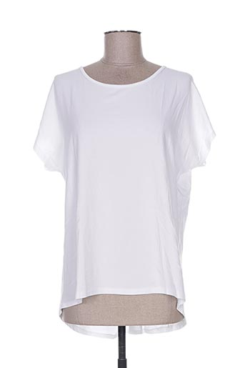 T-shirt manches courtes blanc FASHION pour femme