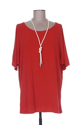 T-shirt manches courtes rouge EGO pour femme