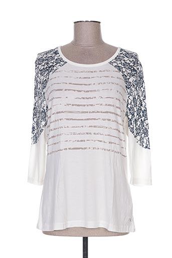 T-shirt manches longues blanc COTE ANGLAISE pour femme