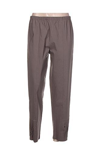kakie pantalons femme de couleur marron