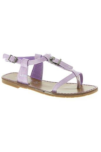 les p'tites bombes chaussures fille de couleur violet