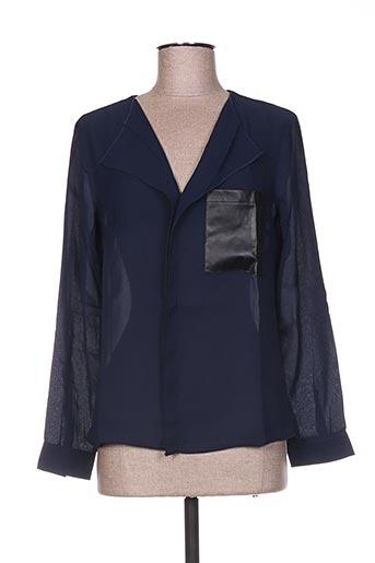 Blouse manches longues bleu BY MONSHOWROOM pour femme