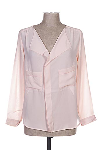 Blouse manches longues rose BY MONSHOWROOM pour femme