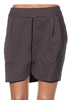 Jupe courte gris CLO&SE pour femme
