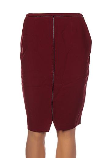 Jupe mi-longue rouge CLO&SE pour femme