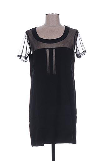 Tunique manches courtes noir CLO&SE pour femme