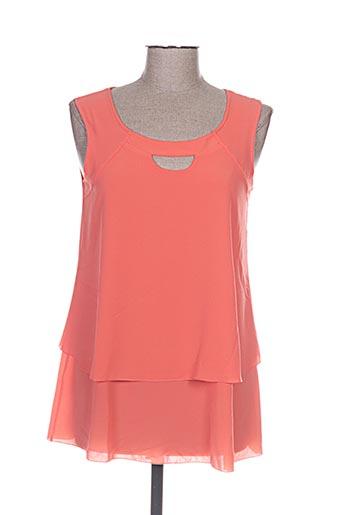 halogene chemises femme de couleur orange
