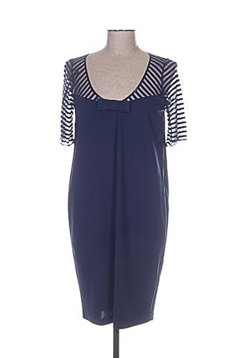 cristina effe robes femme de couleur bleu
