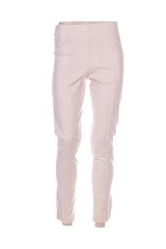 double jeu pantalons femme de couleur rose
