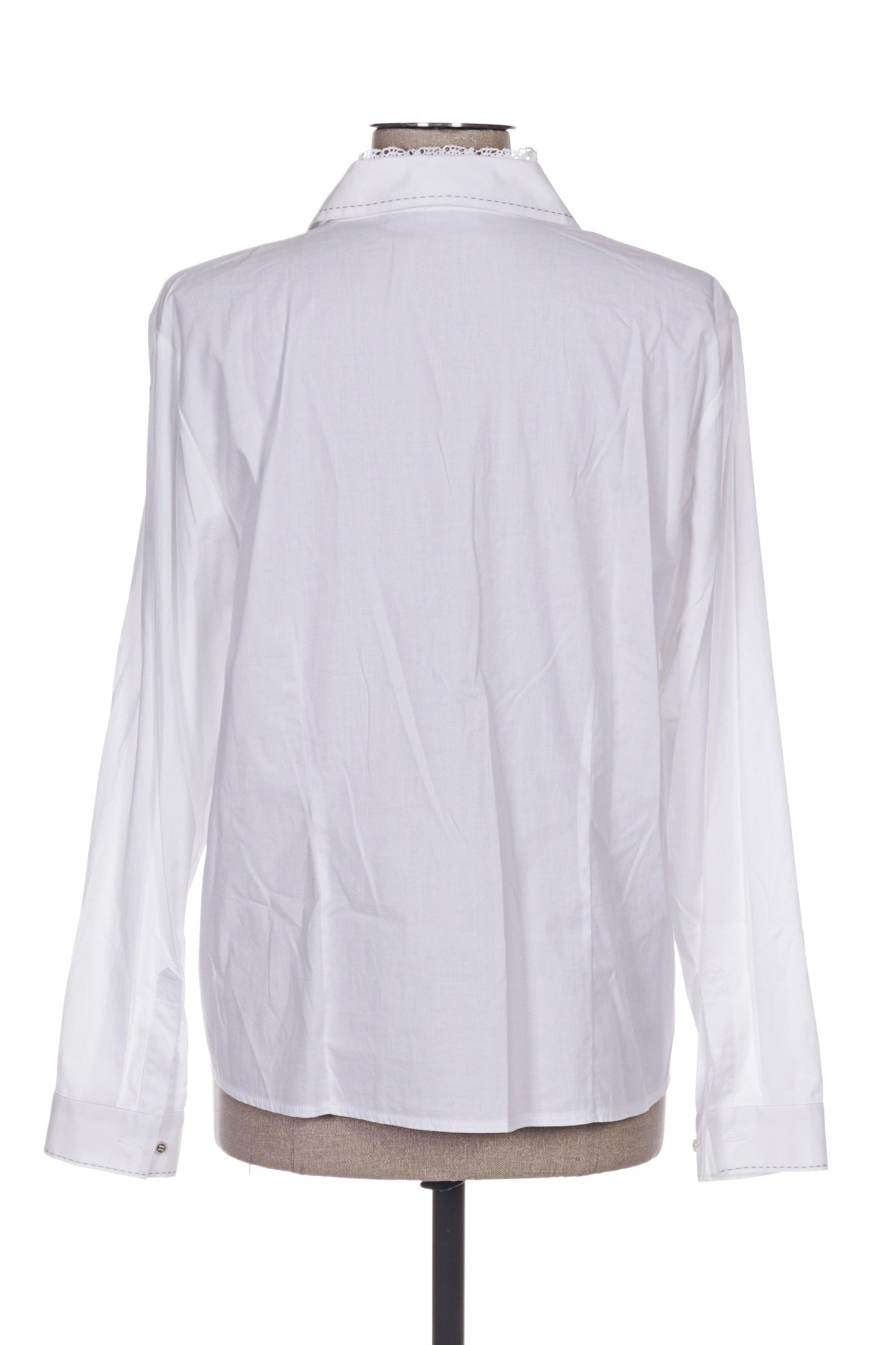 Rabe Chemisiers Manches Longues Femme De Couleur Blanc En Soldes Pas Cher 1226547-blanc0