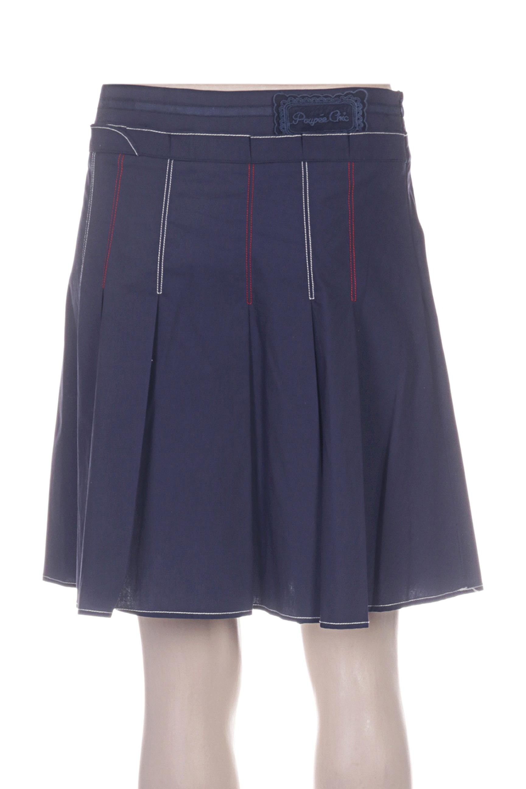 Poupee Chic Jupes Courtes Femme De Couleur Bleu En Soldes Pas Cher 1226334-bleu00