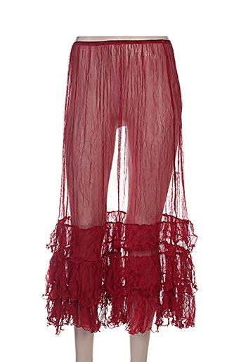 amandine jupes femme de couleur rouge