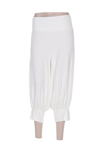 twister pantacourts femme de couleur blanc