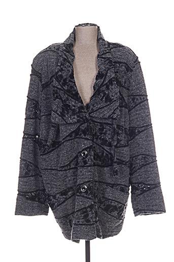 chalou manteaux femme de couleur gris