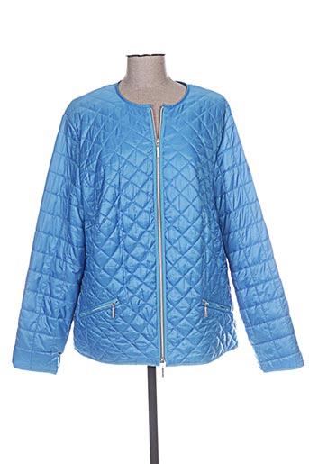 erfo manteaux femme de couleur bleu