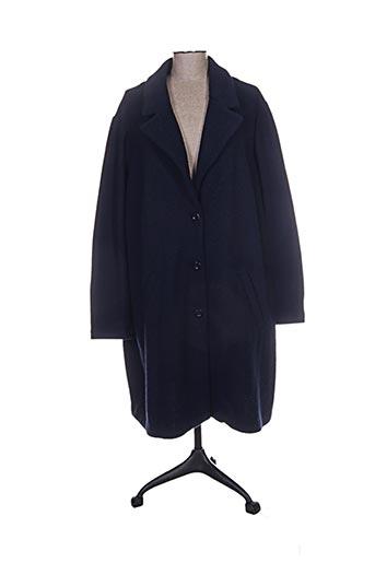 open end manteaux femme de couleur bleu