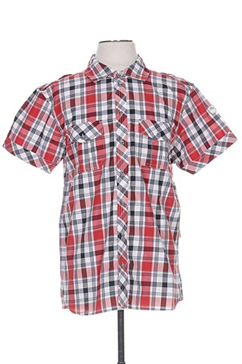 Chemise manches courtes rouge ICEPEAK pour homme