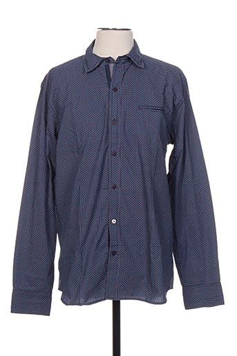 seaport chemises homme de couleur bleu
