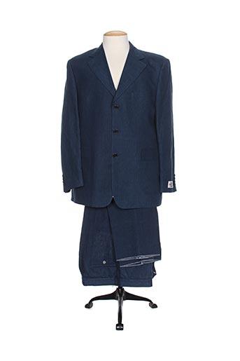 gian alberto caporale costumes homme de couleur bleu