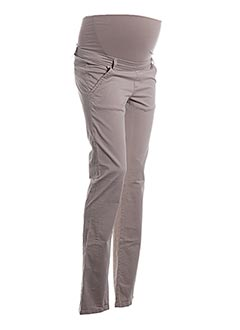 Pantalon casual beige BELLY BUTTON pour femme