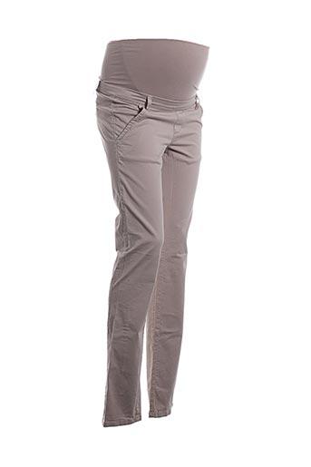Pantalon casual beige BELLY BUTTON pour femme
