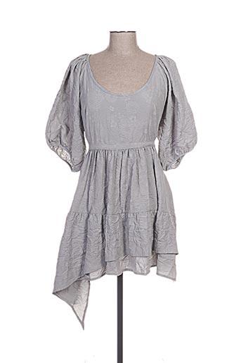 lino factory robes femme de couleur gris