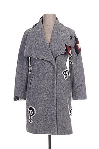 malvin manteaux femme de couleur gris