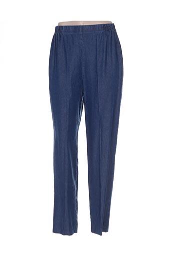 Pantalon casual bleu ELISABETH. B pour femme