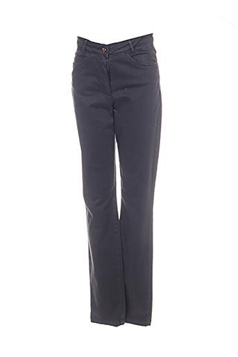 Pantalon casual gris THALASSA pour femme