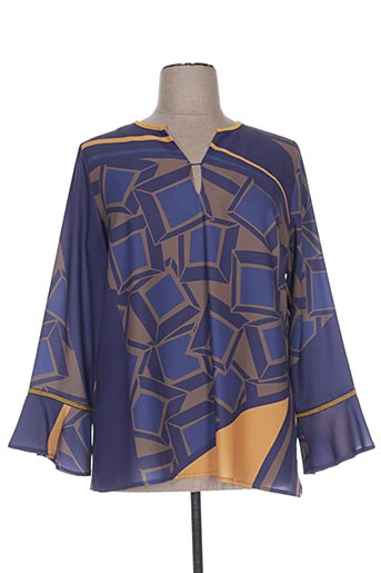 paz torras chemises femme de couleur bleu