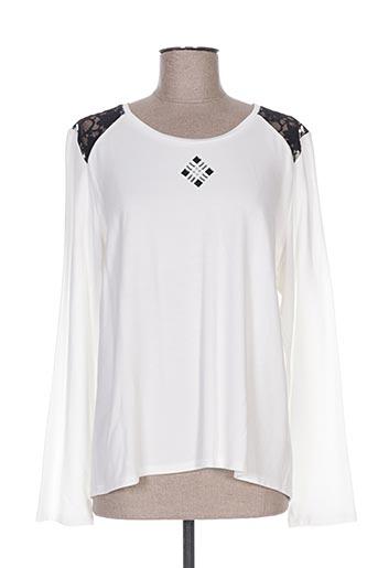 jean delfin t-shirts femme de couleur blanc