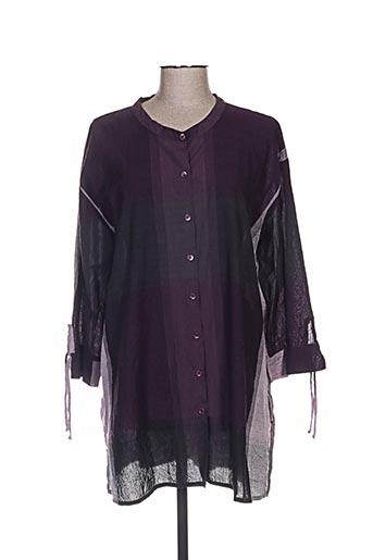 masai chemises femme de couleur violet
