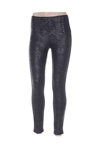 lumina pantalons femme de couleur noir