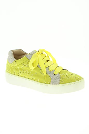 kontessa chaussures femme de couleur jaune